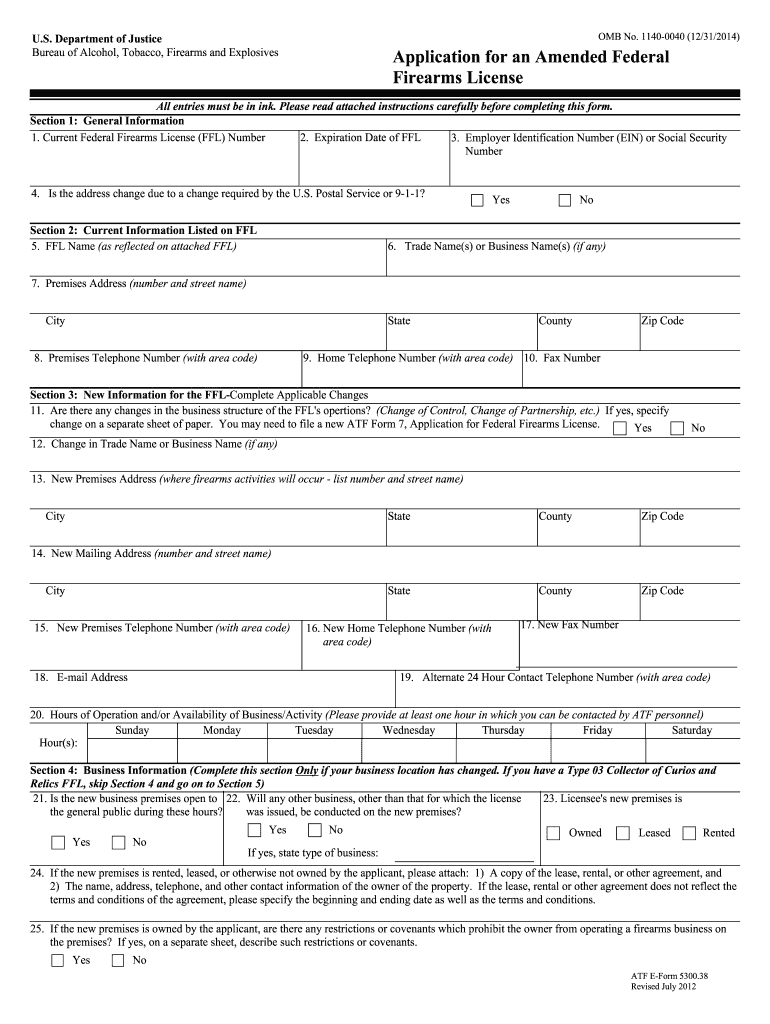Get And Sign Firearms Application Form