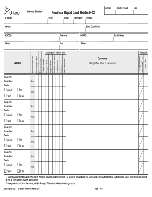 image regarding Report Card Printable named Provincial short article card sort - Fill Out and Indication Printable