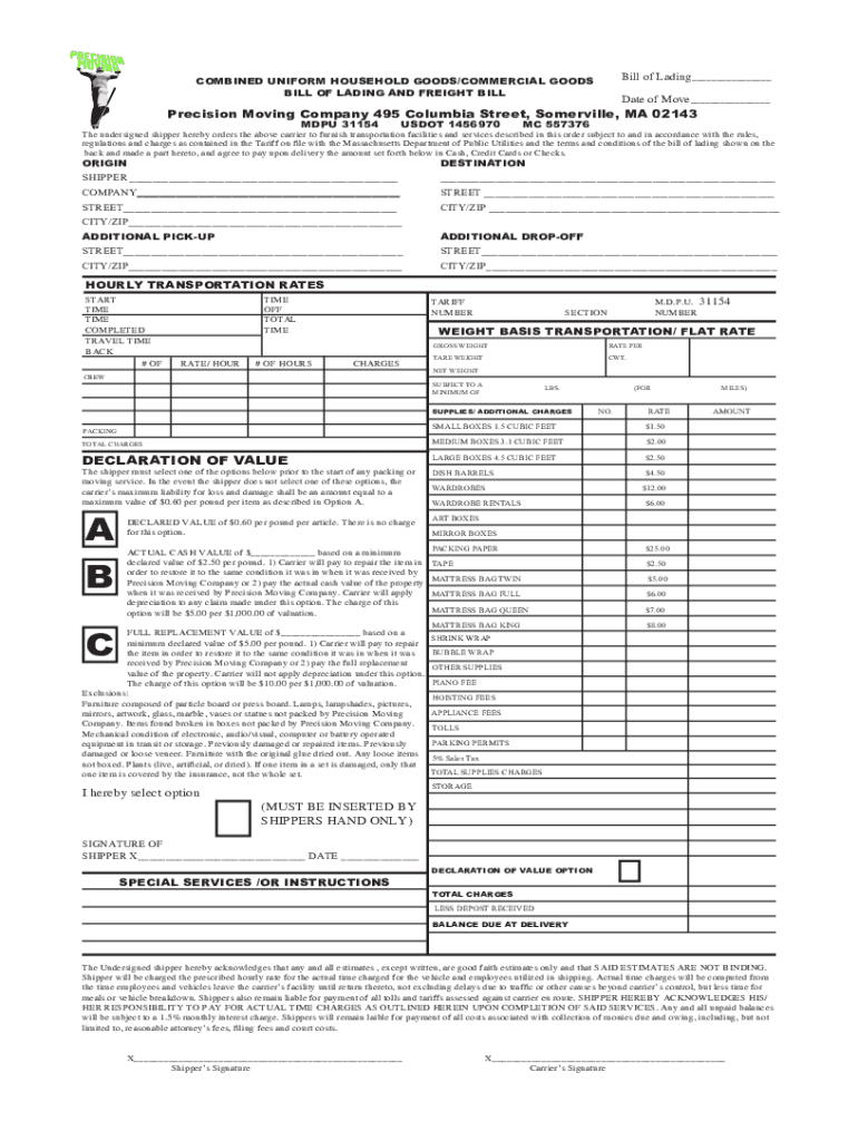 This is a photo of Printable Bill of Lading Form pertaining to document management filemaker