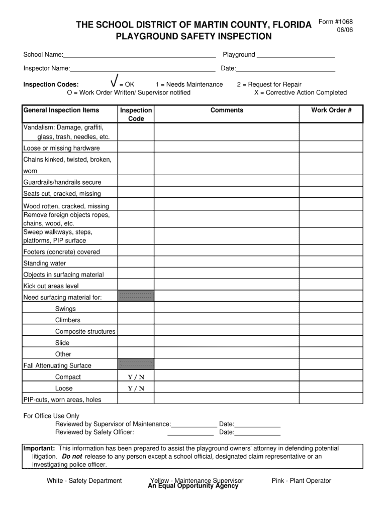 Get And Sign Cpsi Playground Inspection Kit 2006-2021 Form