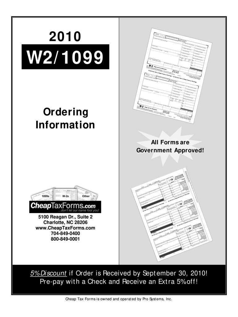 Get And Sign Ordering Information Cheap Tax Forms 2010-2021