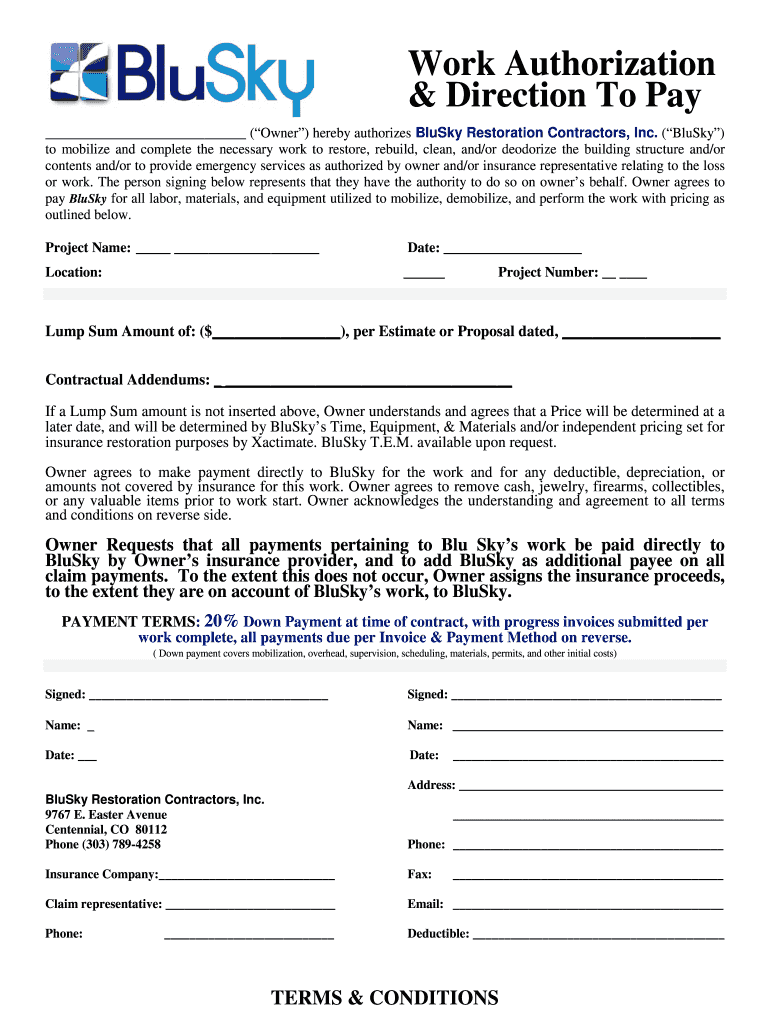 Get And Sign Work Authorization Form Contractor