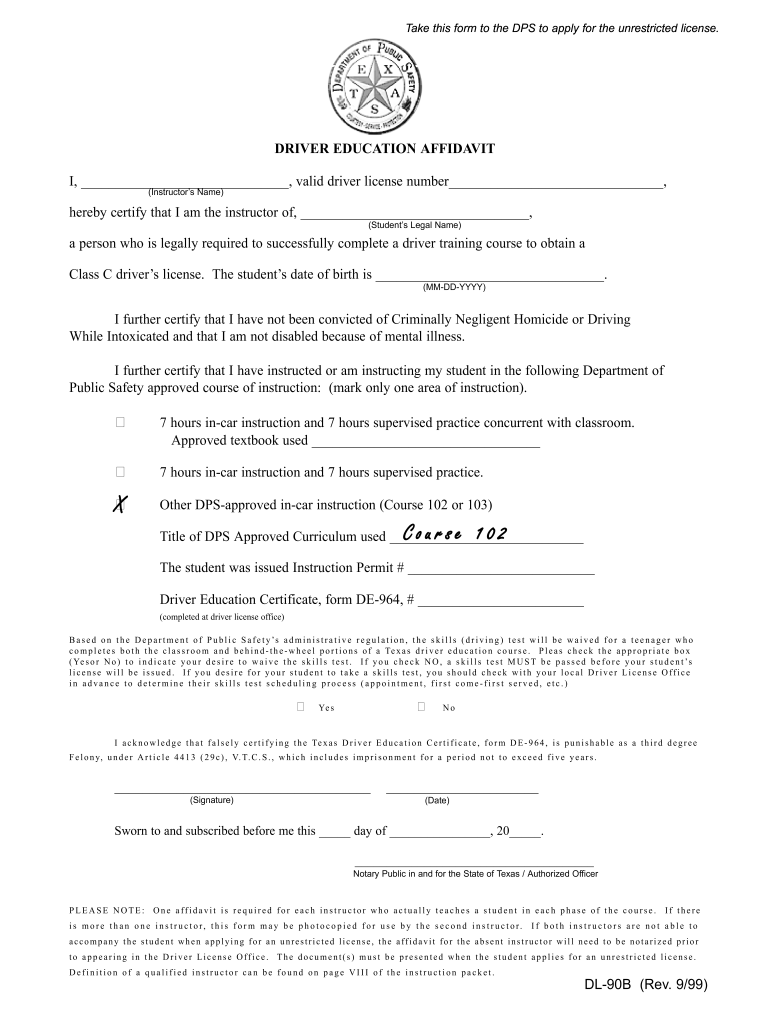 Get And Sign Dl 90b  Form 1999-2021