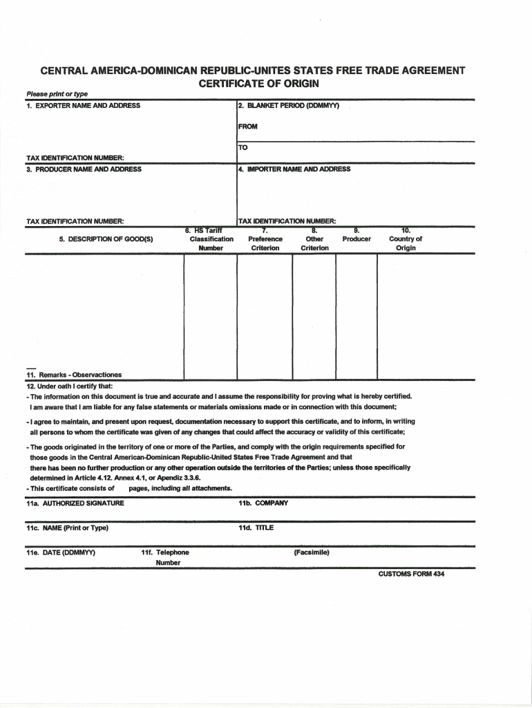 Get And Sign Cafta Form