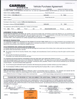 image regarding Printable Vehicle Purchase Agreement titled Printable motor vehicle get arrangement sort - Fill Out and