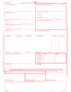 Model cmr pdf form - Fill Out and Sign Printable PDF Template | SignNow