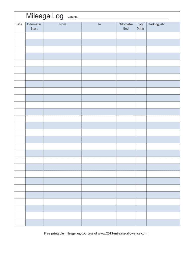 Mileage Log Fill Out And Sign Printable Pdf Template Signnow