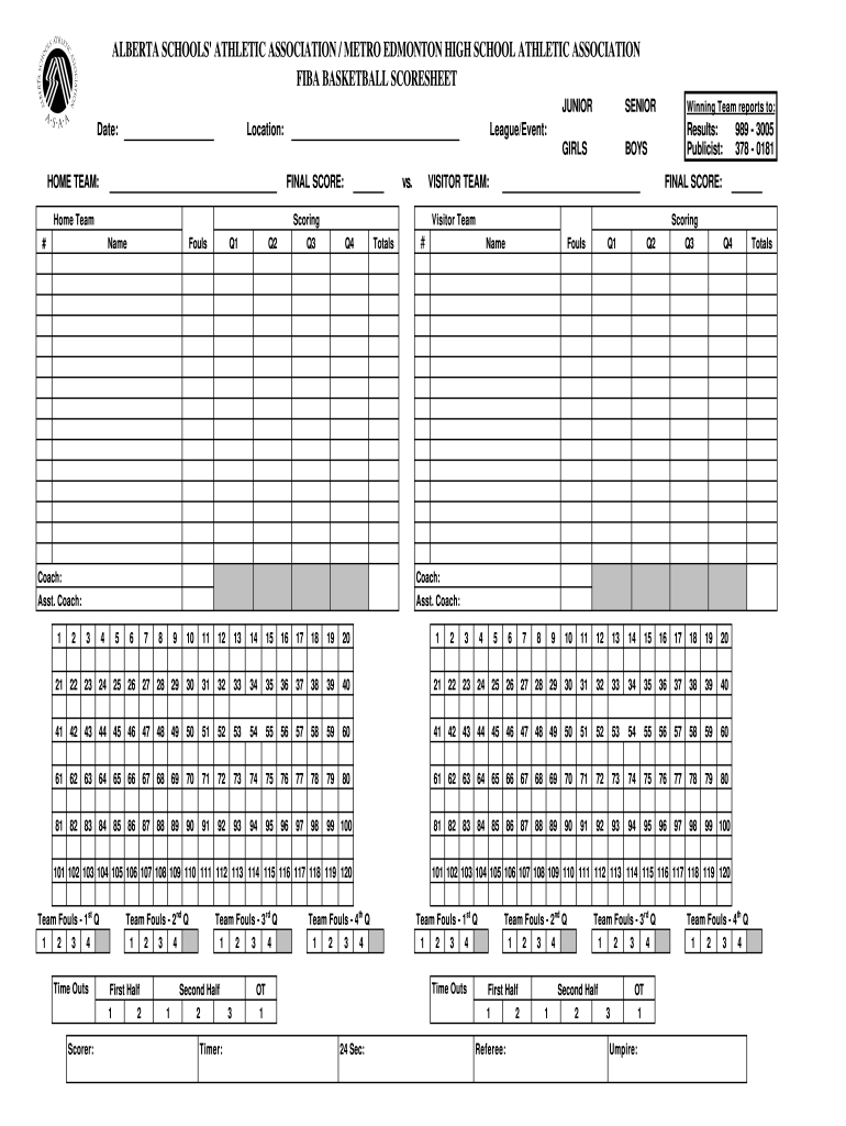 Get And Sign Printable Basketball Stat Sheet Template Form