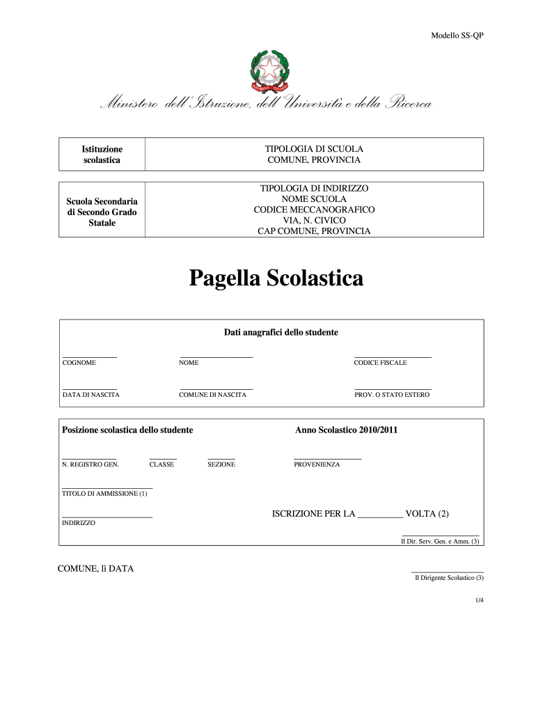 Get And Sign Pagella Scolastica Form