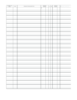 image about Printable Checkbook Register Pdf named Printable checkbook registers sort - Fill Out and Indicator
