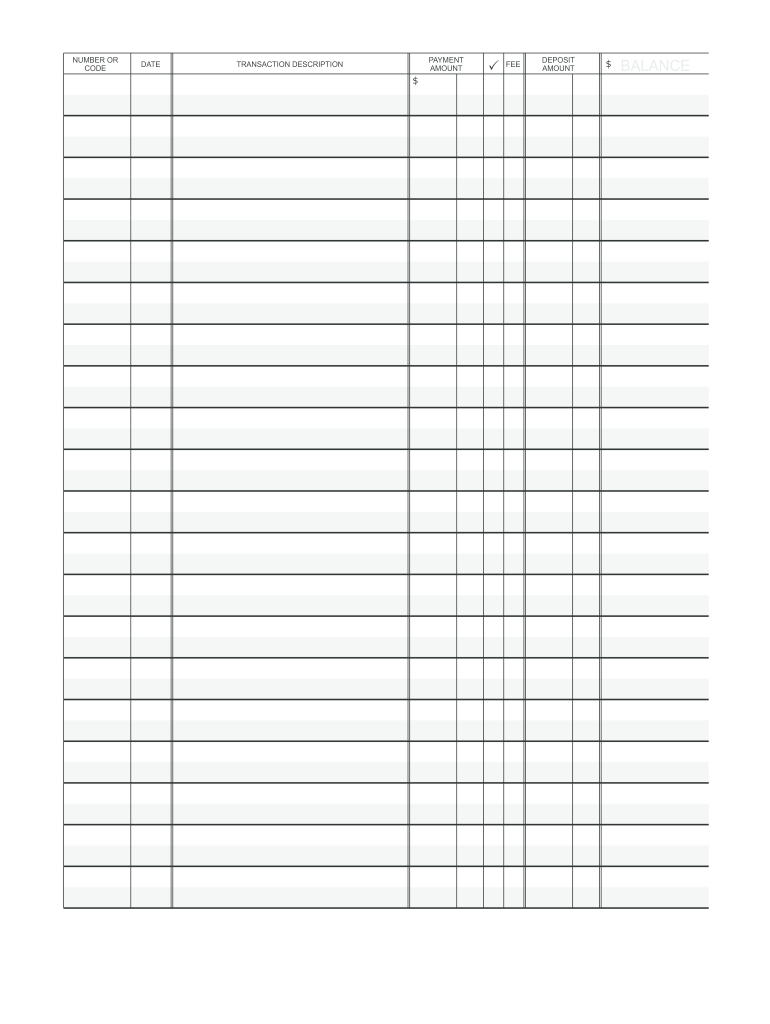 It's just a graphic of Banking Register Printable pertaining to register