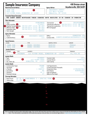 State Farm Insurance Card Template - Fill Out and Sign ...