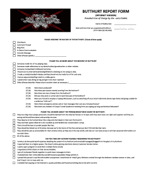 picture regarding Butthurt Report Form Printable known as Butthurt short article pdf style - Fill Out and Indication Printable PDF