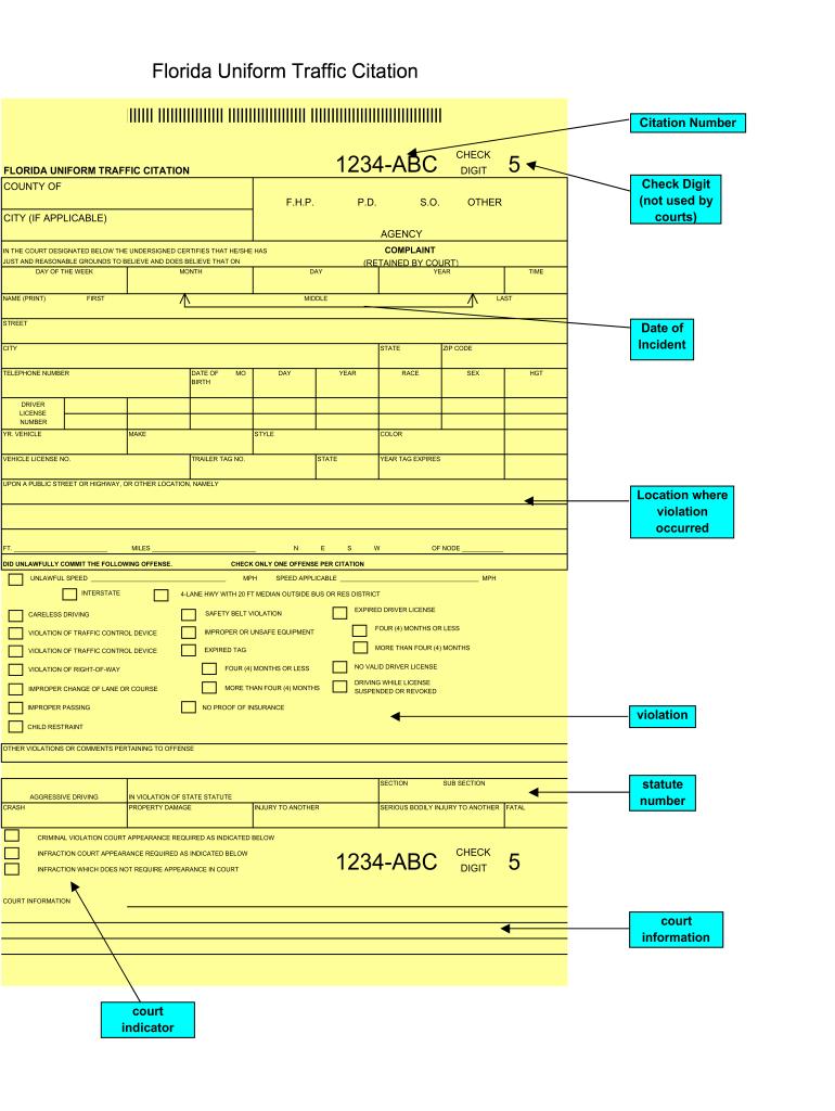 traffic ticket template