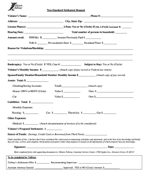Illinois tollway hardship form - Fill Out and Sign ...