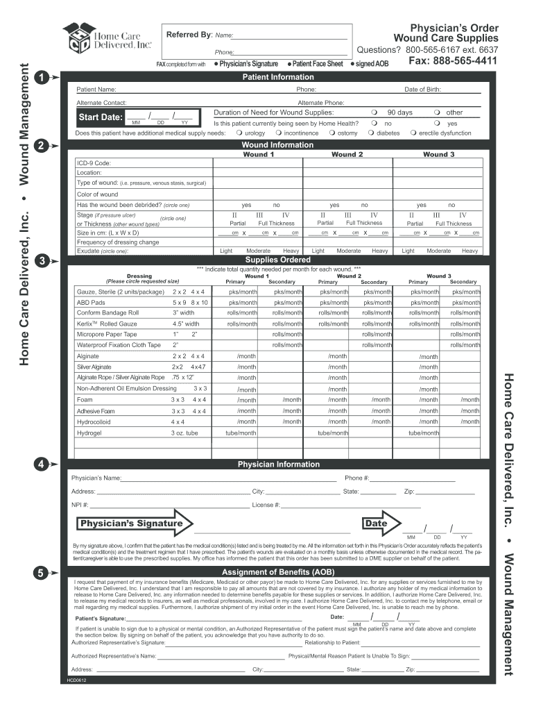 Get And Sign Printable Wound 2012-2021 Form