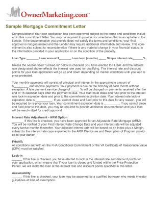 Sample mortgage letter form   Fill Out and Sign Printable PDF