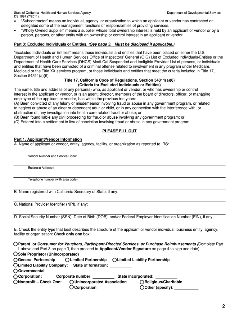 Get And Sign Ds 1891 2011-2021 Form