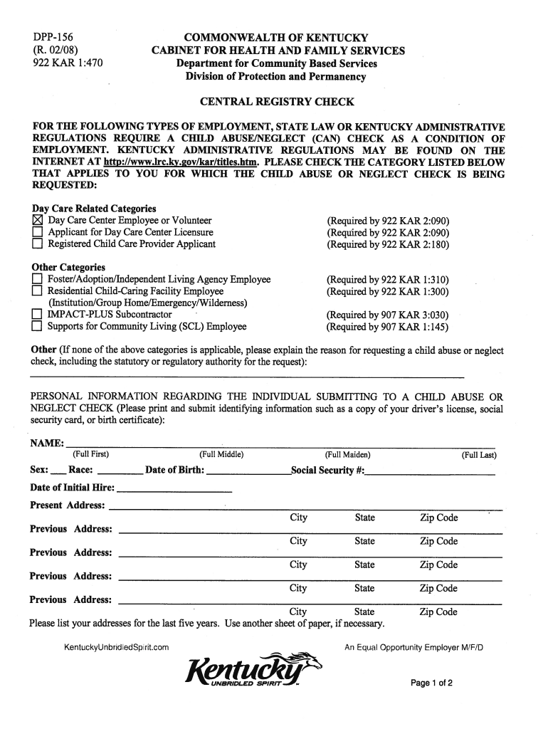 Get And Sign Dpp 156 2008-2021 Form