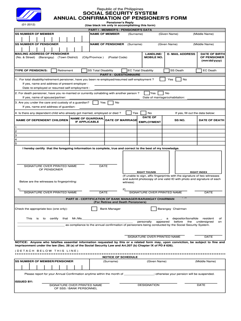 Get And Sign Sss E4 Form 2012-2021