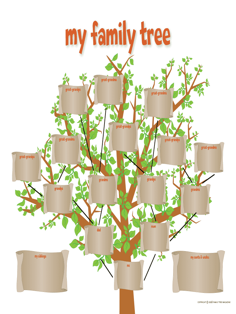 Get And Sign Family Tree Maker For Kids Form