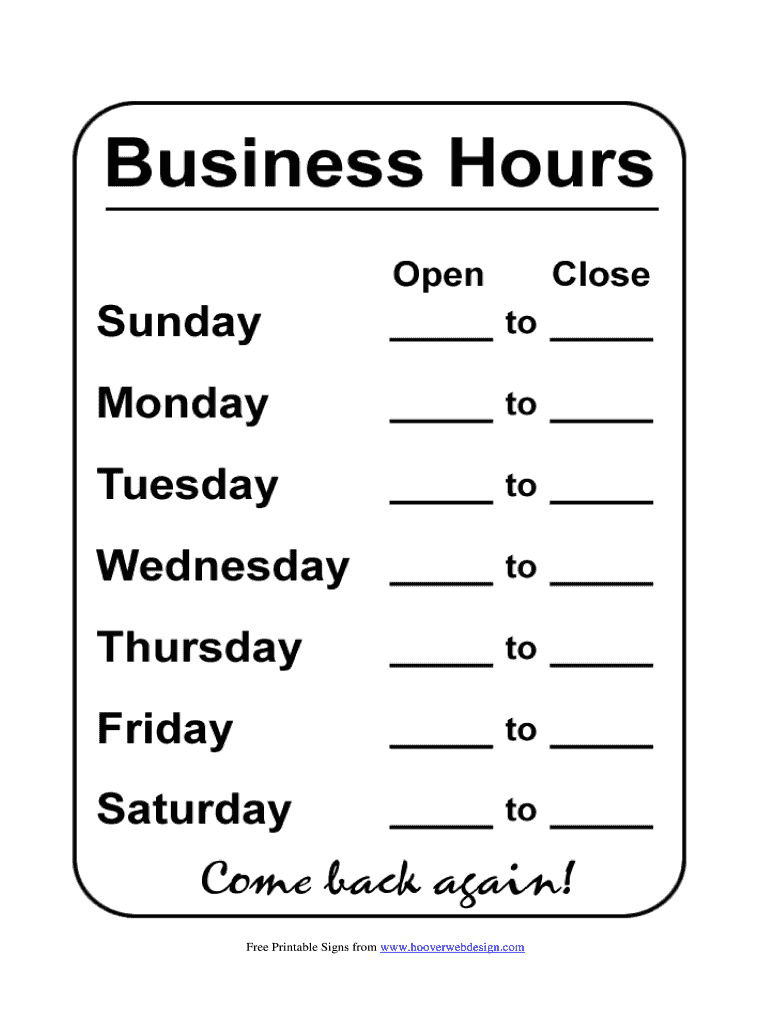 Office Sign Template from www.signnow.com