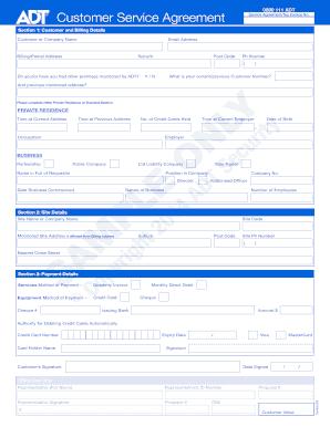 adt alarm monitoring agreement adt nz form fill out. Black Bedroom Furniture Sets. Home Design Ideas
