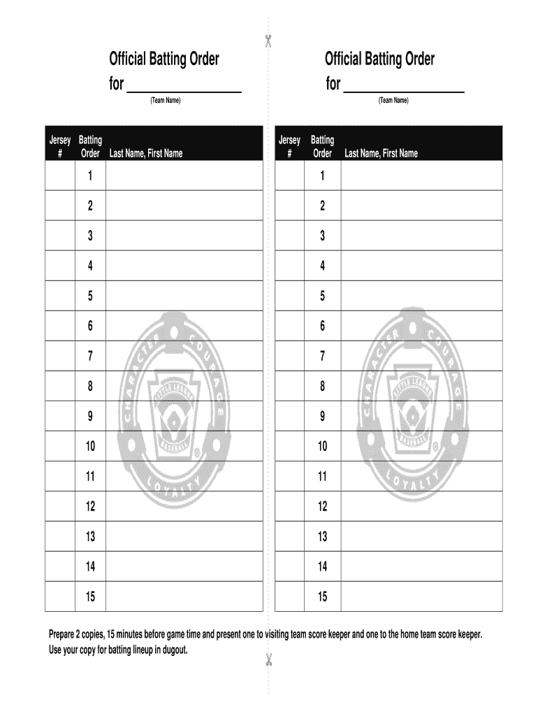 Baseball Batting Order Template from www.signnow.com