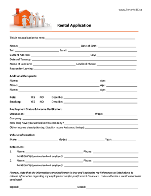 photo regarding Printable Rental Application Form called Apartment packages type - Fill Out and Indication Printable PDF
