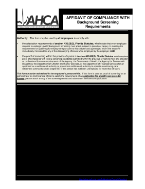 Ahca affidavit 2010 form - Fill Out and Sign Printable PDF