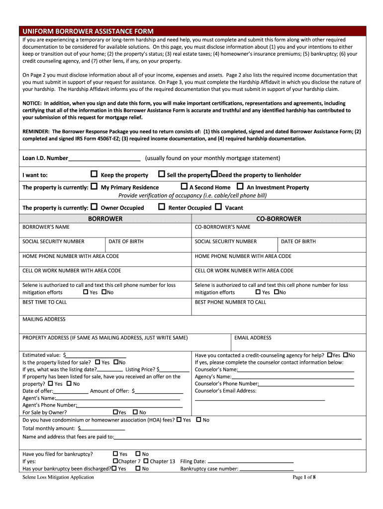 Get And Sign Customer Assistance 2 Borrower Form