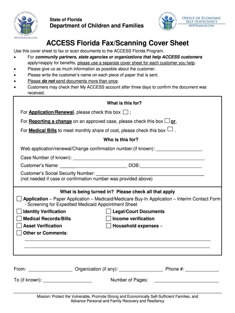 Get And Sign Access Florida Fax Scanning Cover Sheet Form