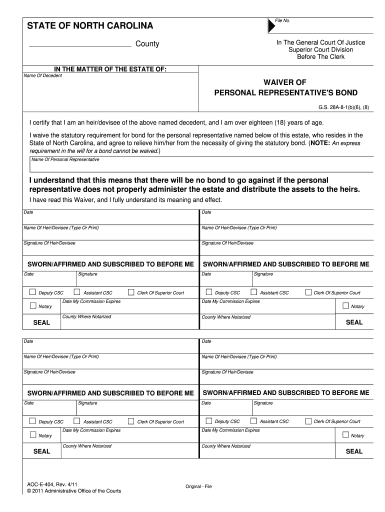 Aoc E 404 Fill Out And Sign Printable Pdf Template Signnow
