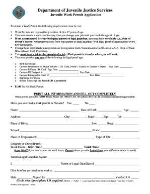picture regarding Printable Workers Permit named Effort allow for styles - Fill Out and Indicator Printable PDF Template