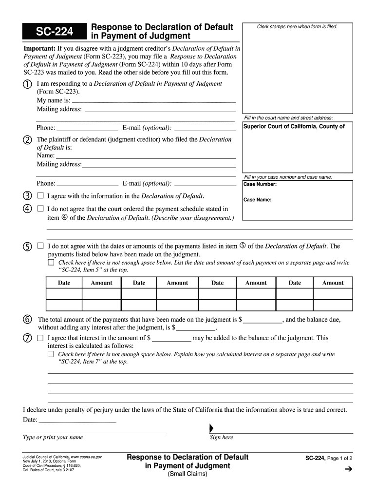 Get And Sign Sc 224 2013-2021 Form