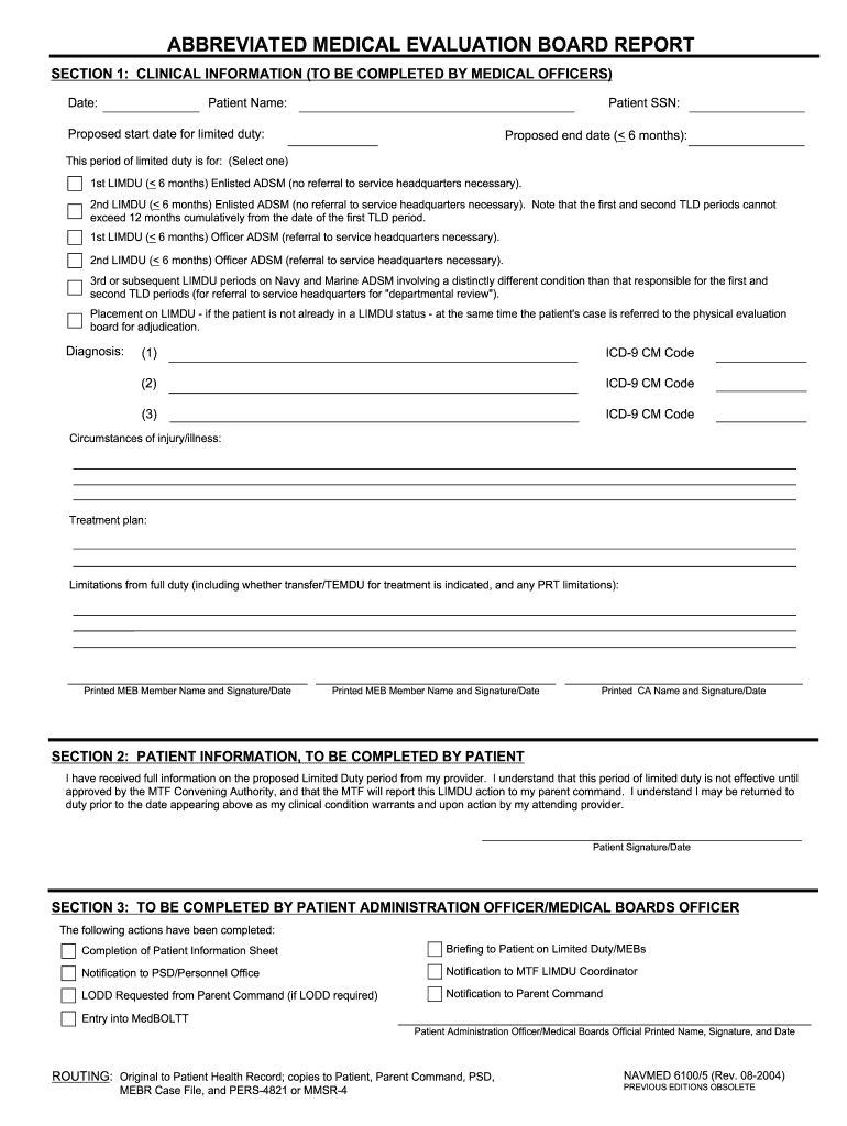 Get And Sign Navmed 6100 5 Form