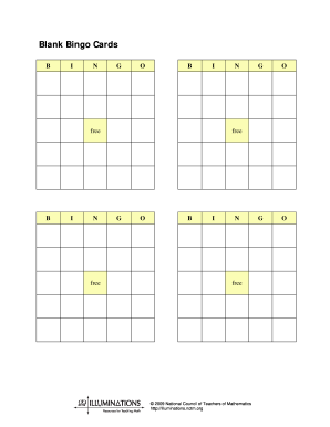 Blank Bingo Cards Form Fill Out And Sign Printable Pdf Template