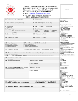 Turkey work permit application form - Fill Out and Sign