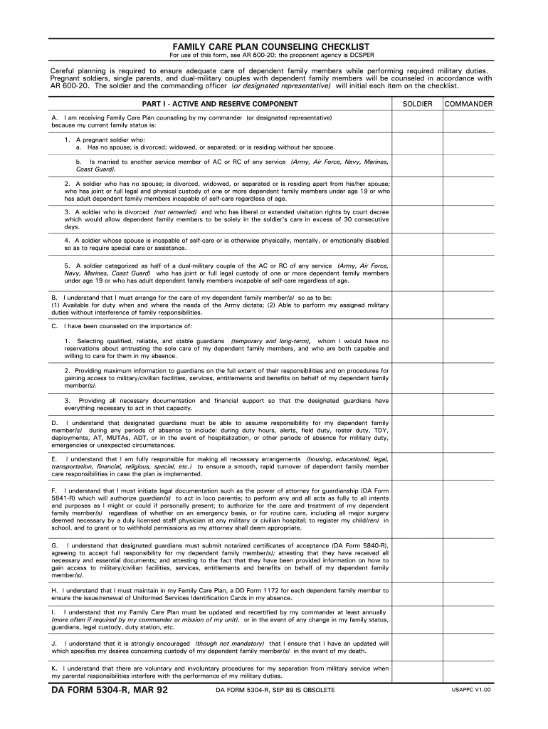 Family Care Plan Fill Out And Sign Printable Pdf Template Signnow