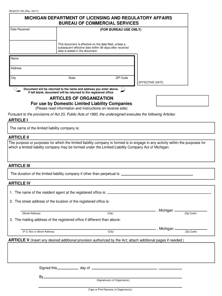 Get And Sign Organization Michigan 2011-2021 Form