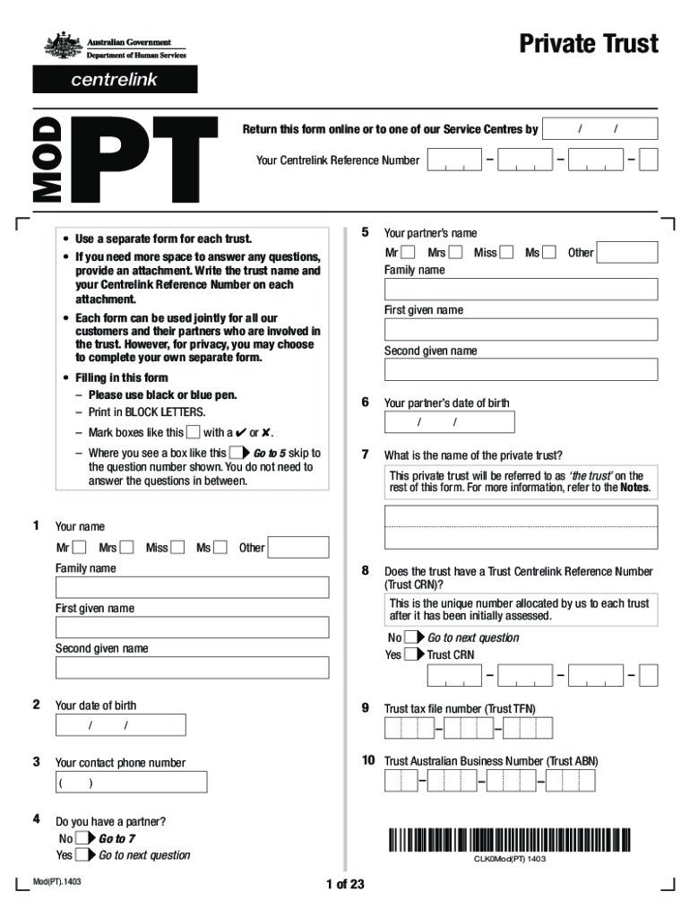 Get And Sign Mod Pt Form