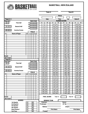image about Printable Basketball Score Sheets named Rating sheet basket perbasi style - Fill Out and Indication