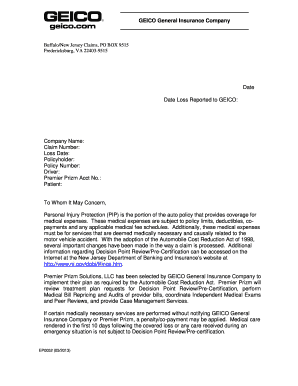 Geico letterhead - Fill Out and Sign Printable PDF ...