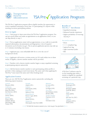 Printable Tsa Application Forms Fill Out And Sign Printable Pdf Template Signnow