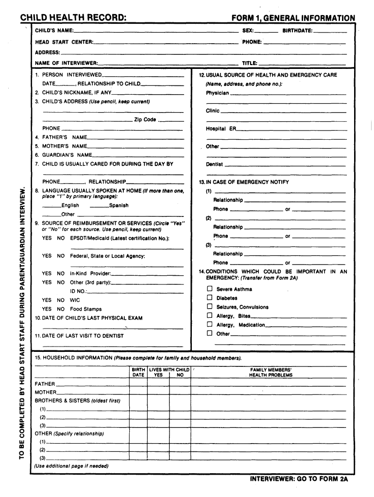 Get And Sign Child Health Record Form