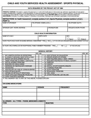photo relating to Scat 3 Printable Form named Health and fitness essment sporting activities style - Fill Out and Signal Printable