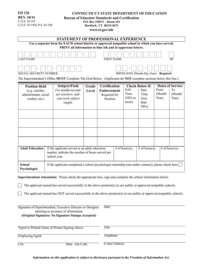 Get And Sign Ed 126 2011-2021 Form