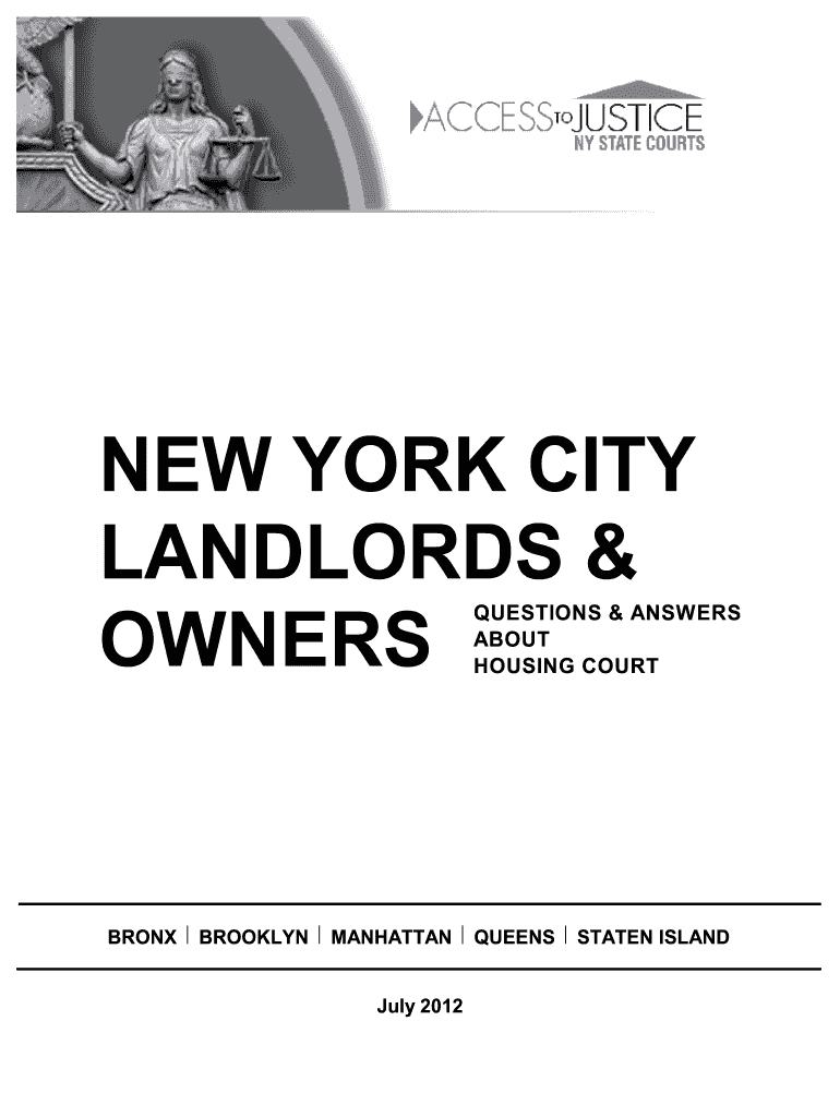 Get And Sign Ny Landlord New 2003-2021 Form