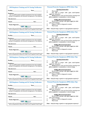 Respirator Fit Test Form Fill Out And Sign Printable Pdf Template Signnow