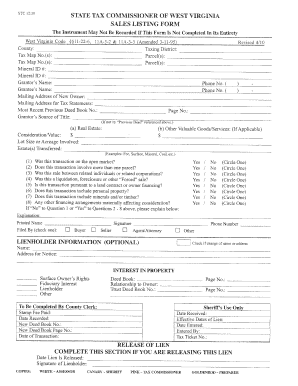 Sales Listing Form pdf - Fill Out and Sign Printable PDF Template
